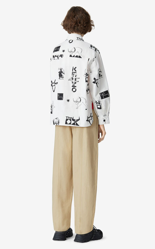 OFF WHITE 'Chinese New Year Capsule' 'Sign & Symbol' shirt jacket for women KENZO