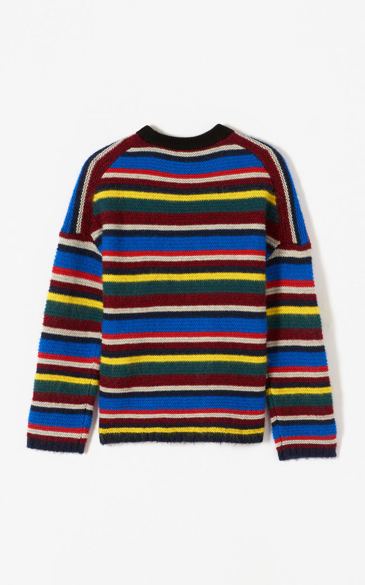 MULTICOLOR 'Jumping Tiger' striped jumper は メンズ KENZOのために