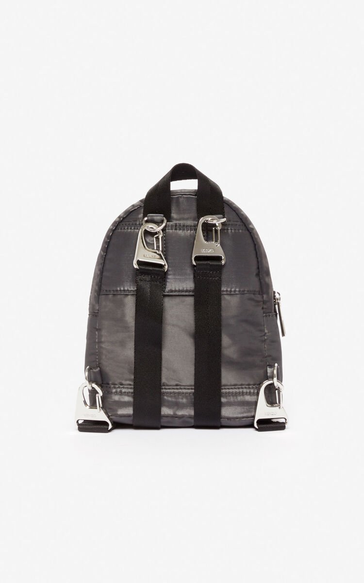 ANTHRACITE Mini Tiger 'Kampus' backpack for women KENZO