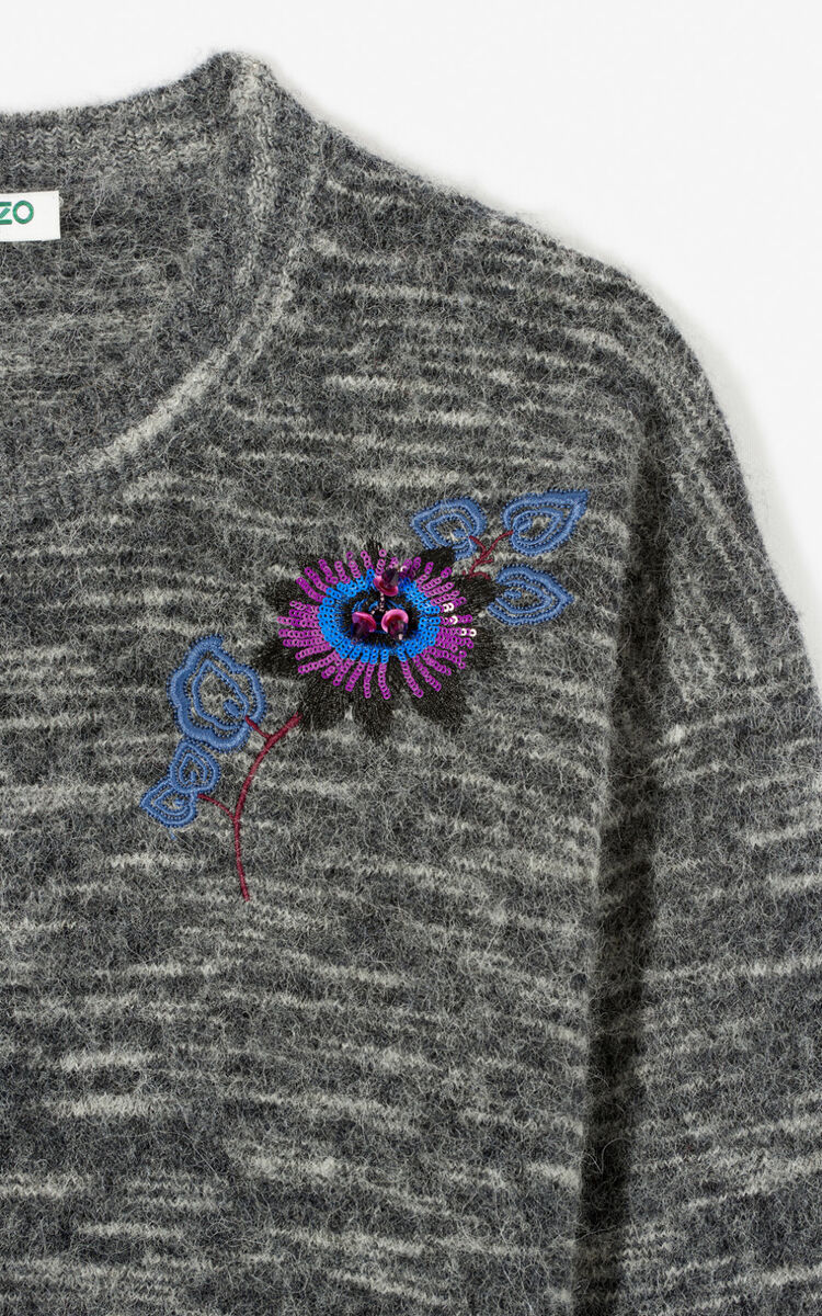 ANTHRACITE 'Passion Flower' jumper for women KENZO