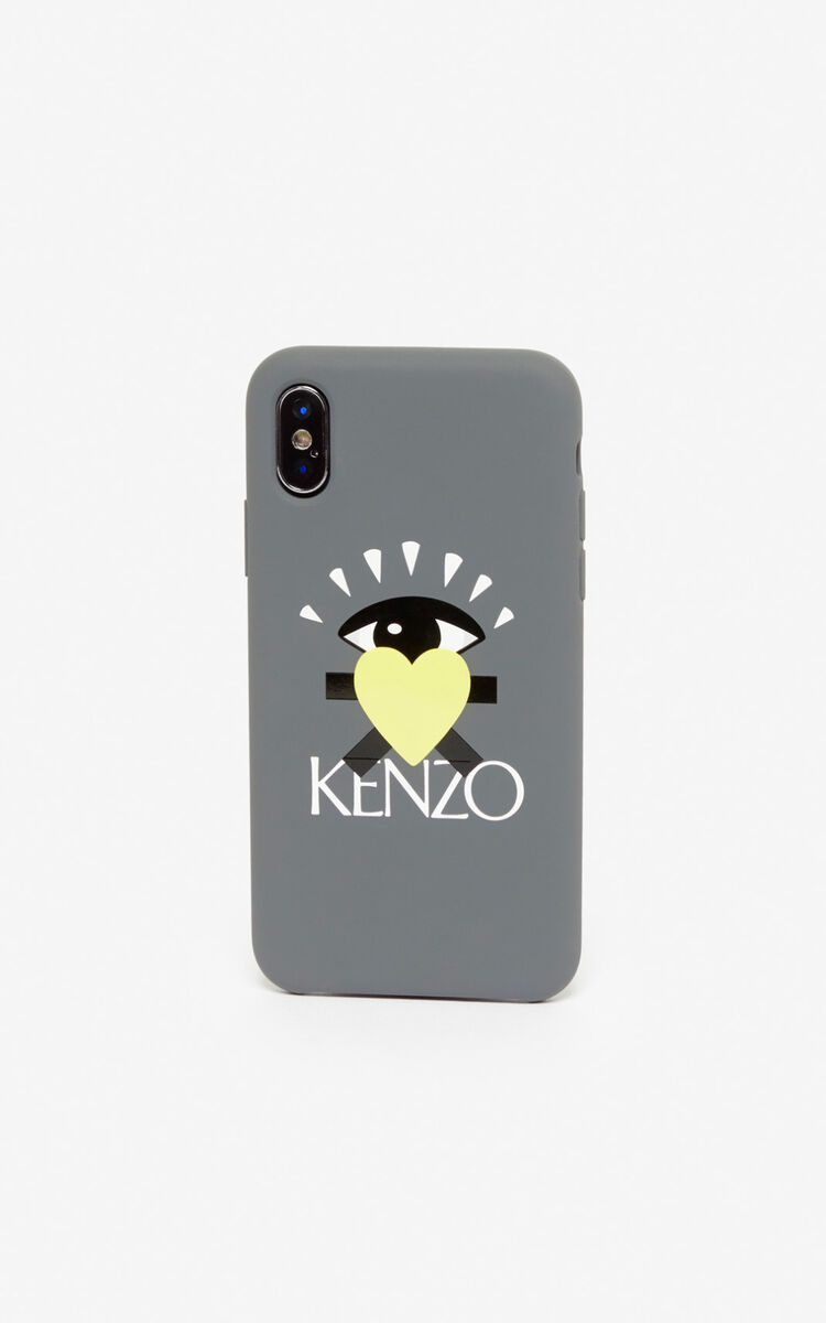 ANTHRACITE 'Cupid' iPhone X case for unisex KENZO