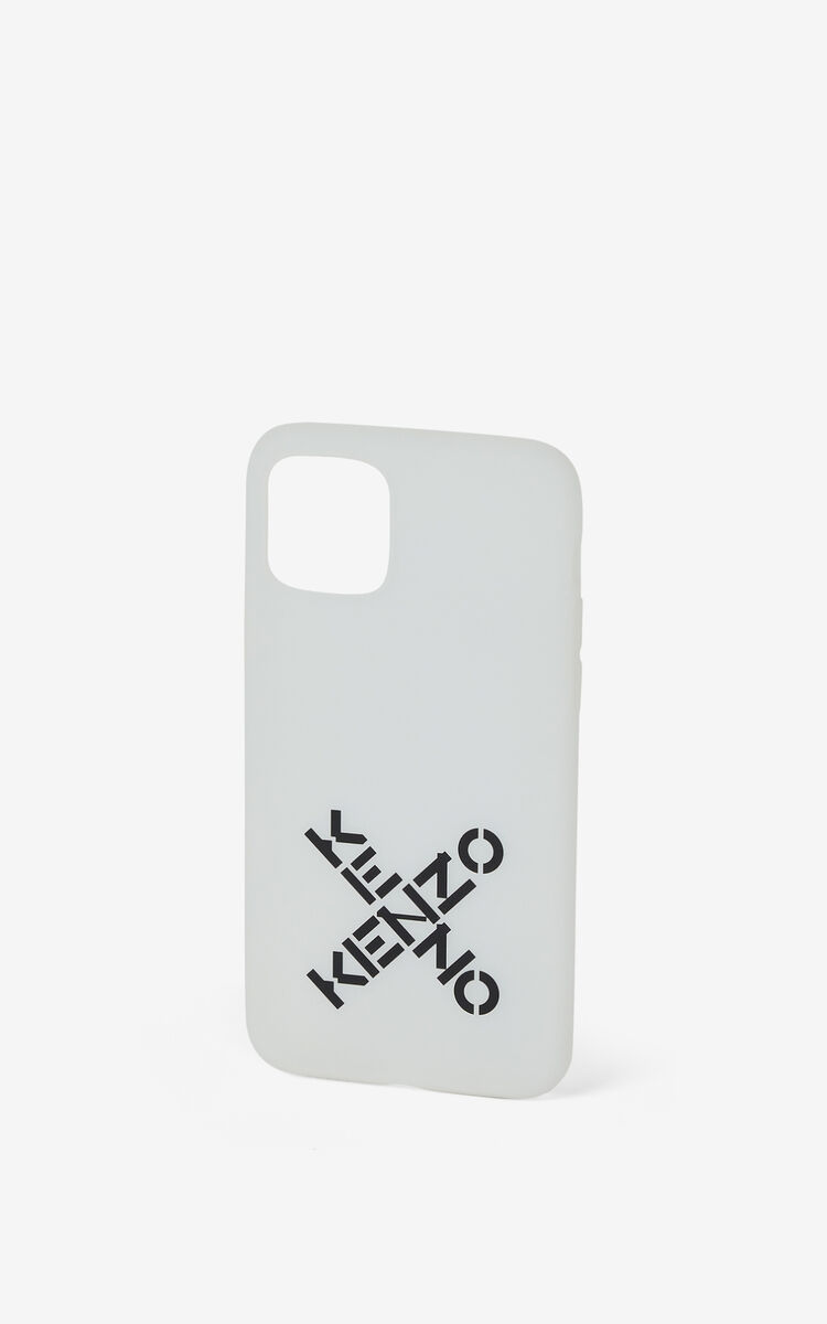 WHITE iPhone XI Pro Case for men KENZO