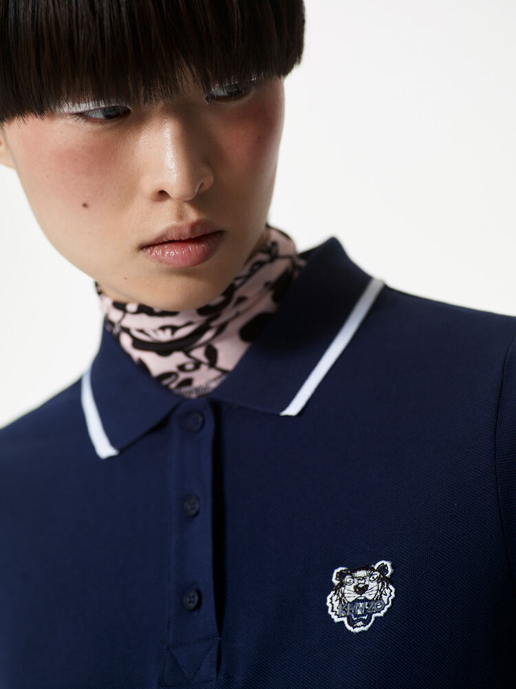 MIDNIGHT BLUE Tiger Polo Dress  for women KENZO