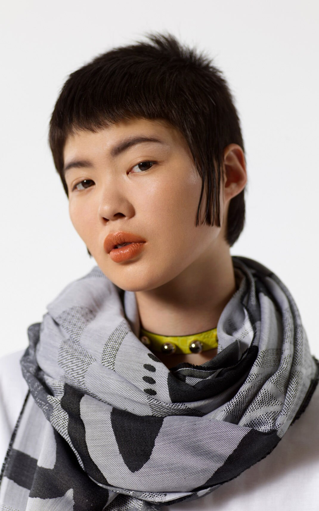ANTHRACITE Multi icon scarf for unisex KENZO