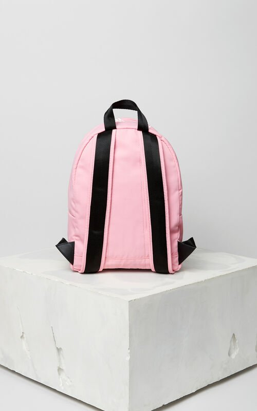 FLAMINGO PINK Medium KENZO Logo backpack for women