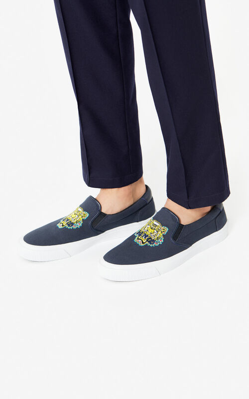 ANTHRACITE K-Skate 'Dragon Tiger' slip-on for men KENZO