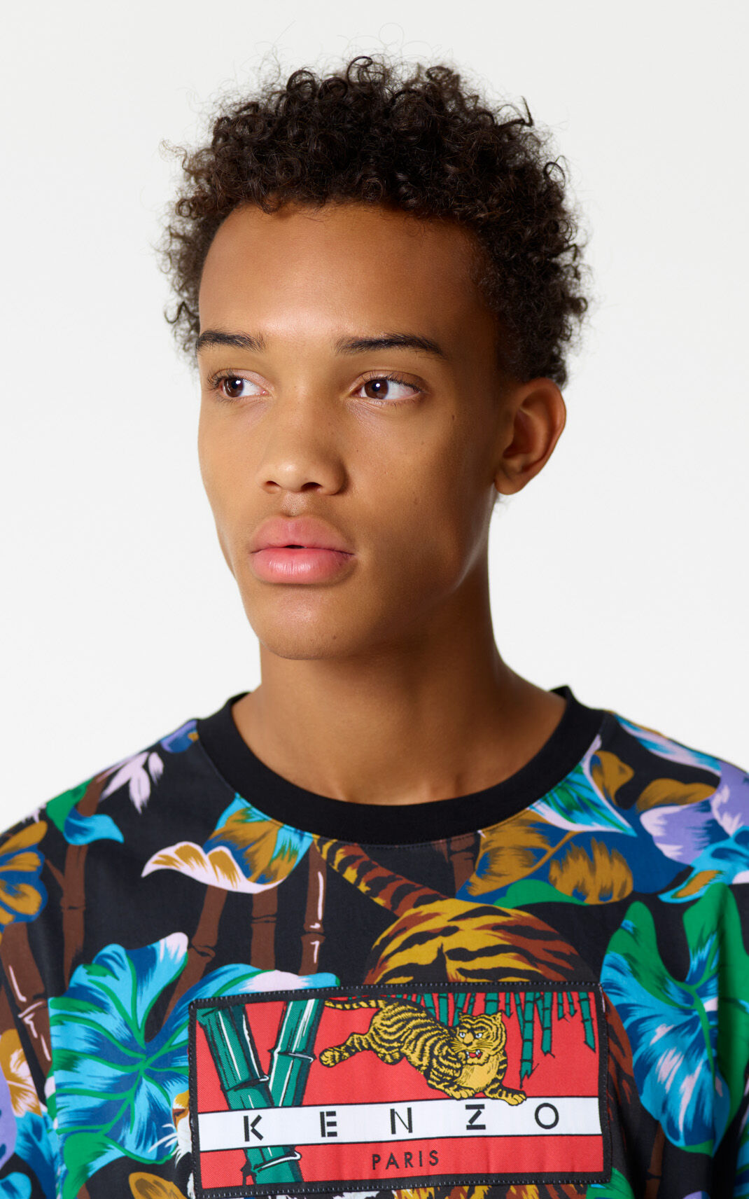 BLACK 'Bamboo Tiger' t-shirt for men KENZO