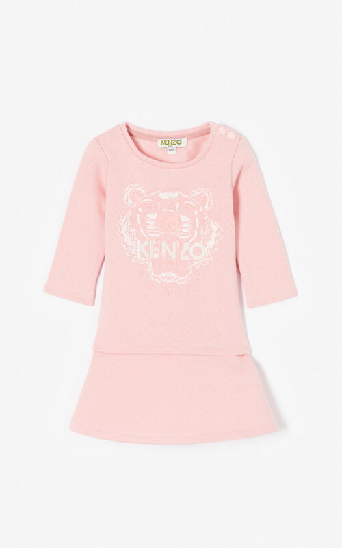 FLAMINGO PINK Flared Tiger dress for women KENZO