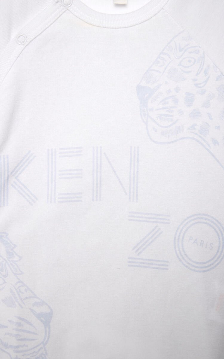 PEARL GREY 'Tiger Friends' sleepsuit and hat set for men KENZO
