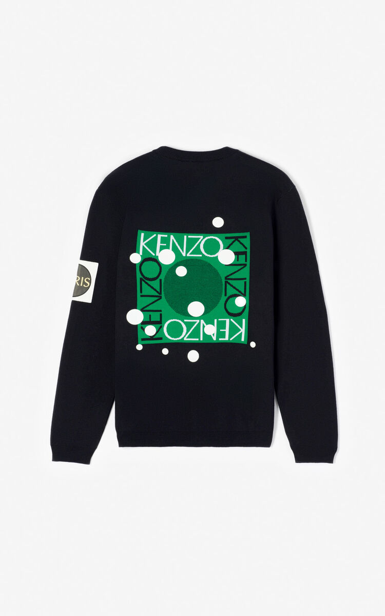 BLACK 'Dots' jumper for women KENZO