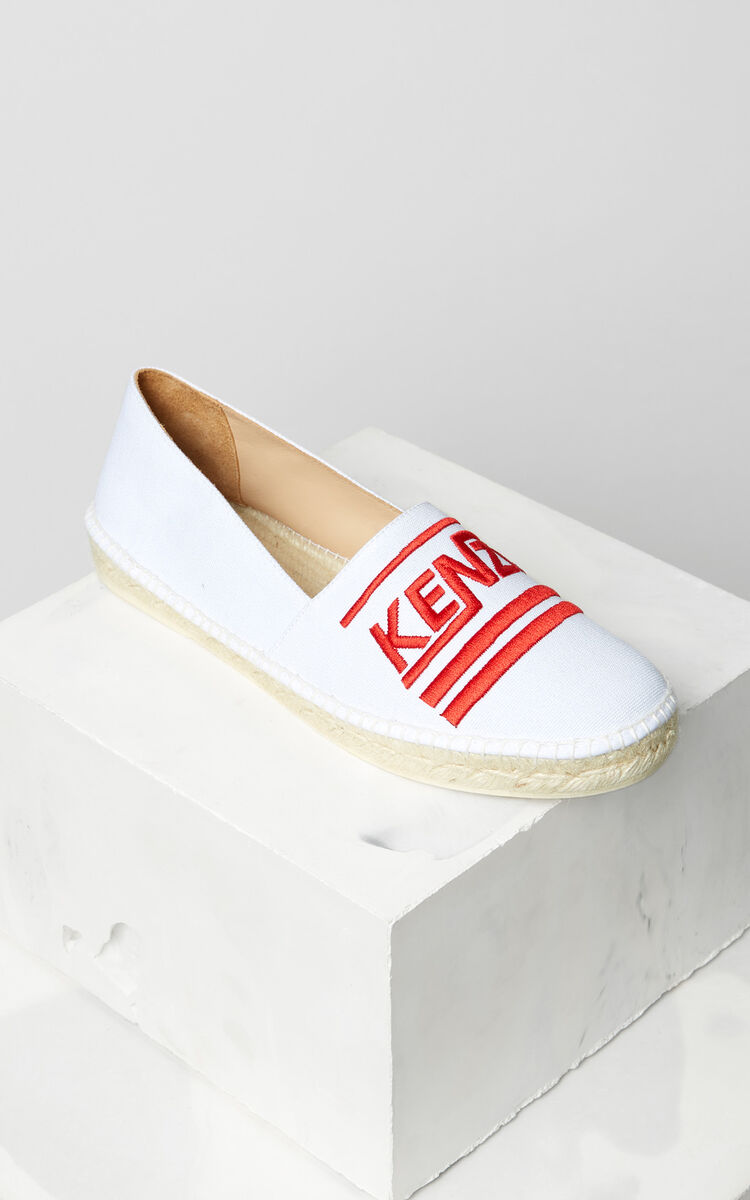 WHITE Slit espadrilles for men KENZO