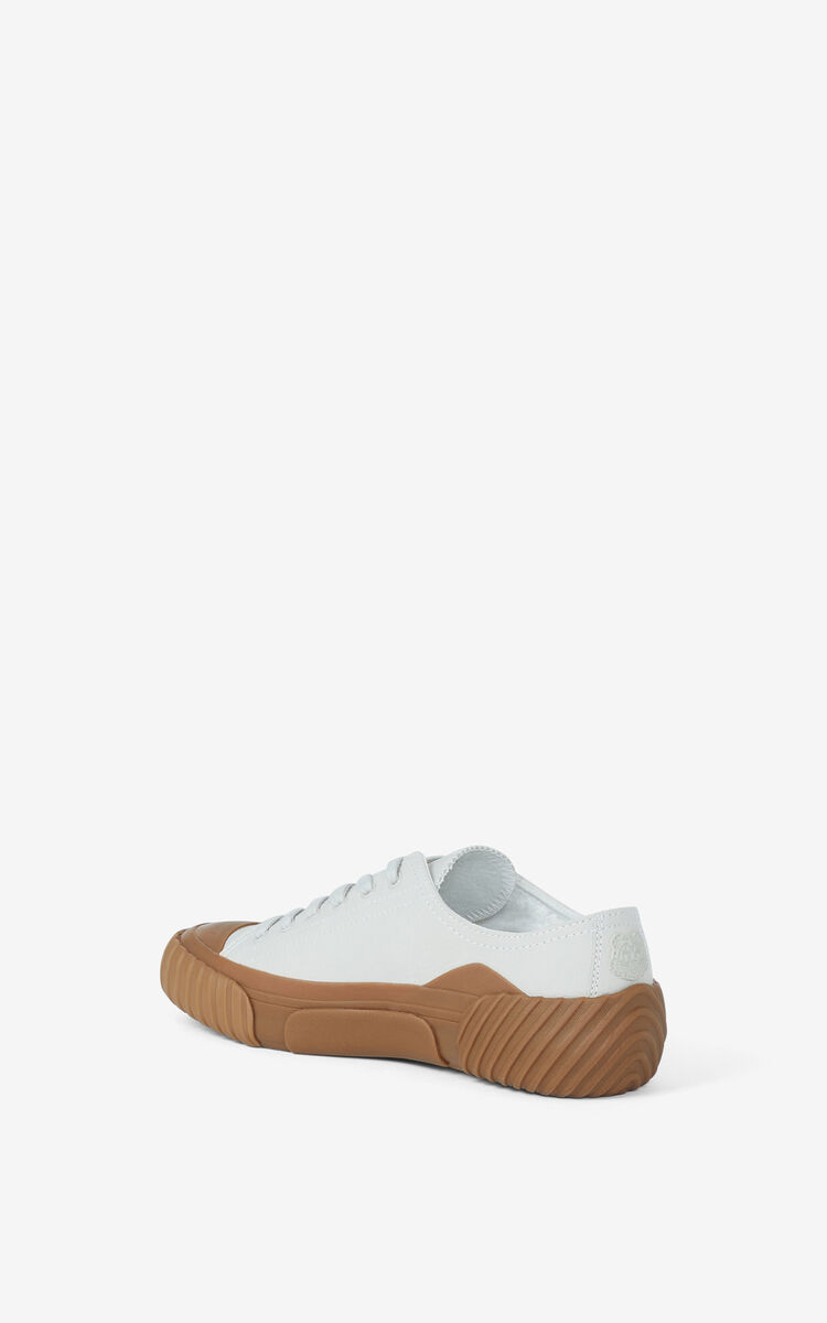 OFF WHITE Leather Tiger Crest trainers for unisex KENZO