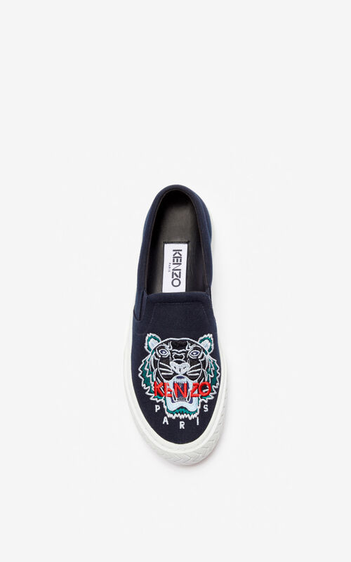 NAVY BLUE K-Skate Tiger slip-ons for unisex KENZO
