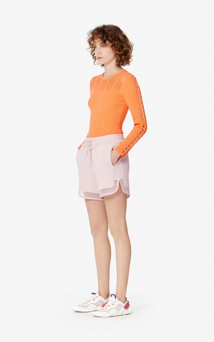 FADED PINK Dual-material shorts for women KENZO