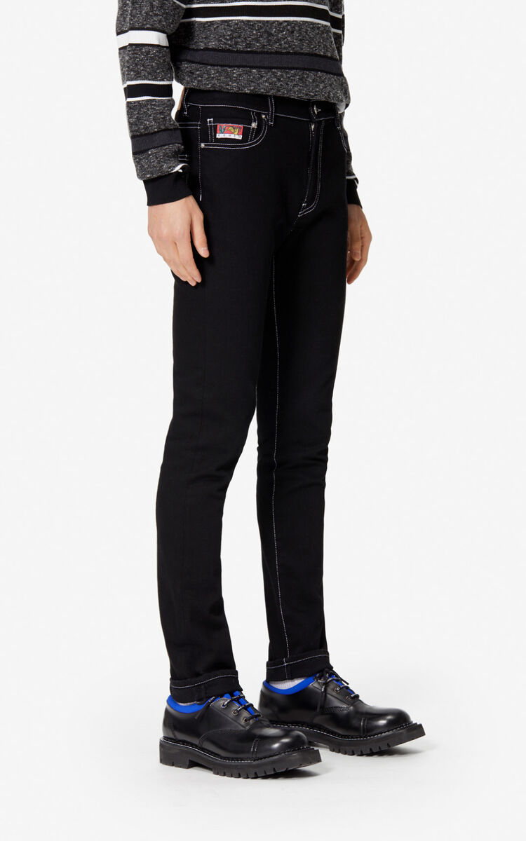BLACK 'KENZO Mountain' skinny jeans for women