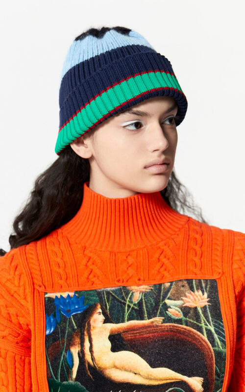 SKY BLUE Striped hat for women KENZO