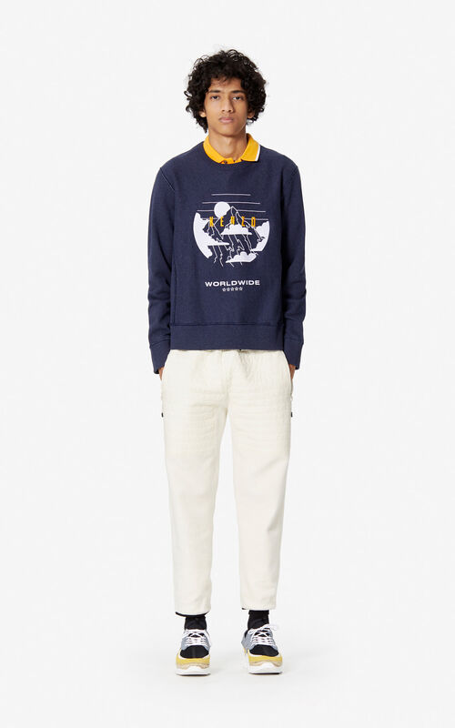 NAVY BLUE 'KENZO Mountain' sweatshirt for men