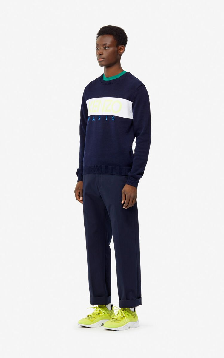 MIDNIGHT BLUE KENZO Paris jumper for men