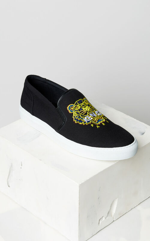 BLACK K-Skate Tiger slip-on for men KENZO