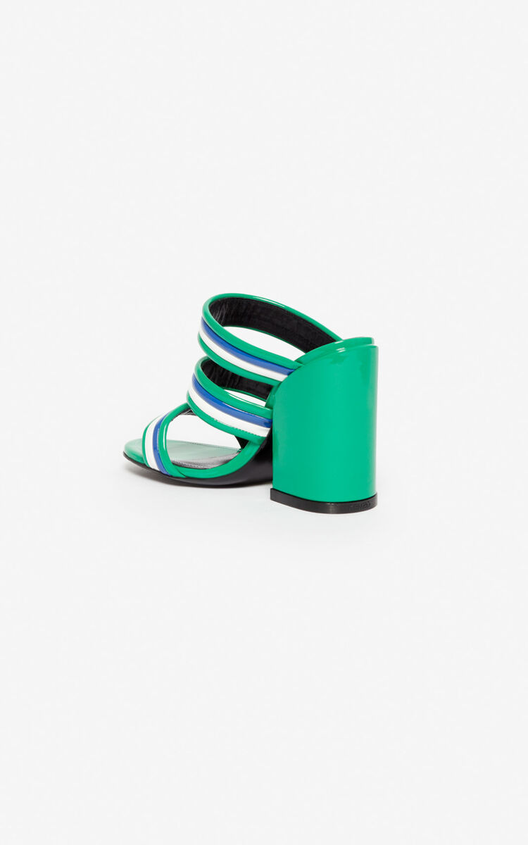 GRASS GREEN Ana high-heeled mules for women KENZO