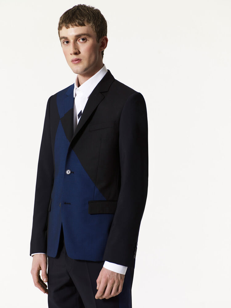 MIDNIGHT BLUE Wrinkle Free Panelled Blazer for men KENZO