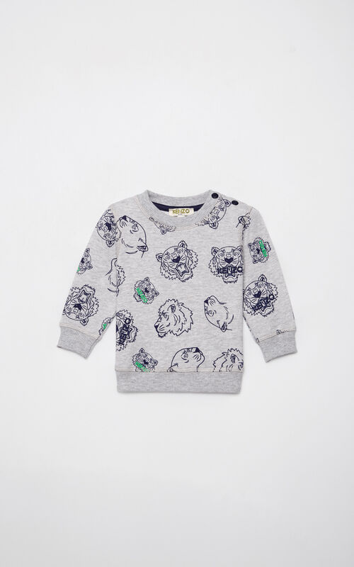 MIDDLE GREY Multi-icon sweatshirt for men KENZO
