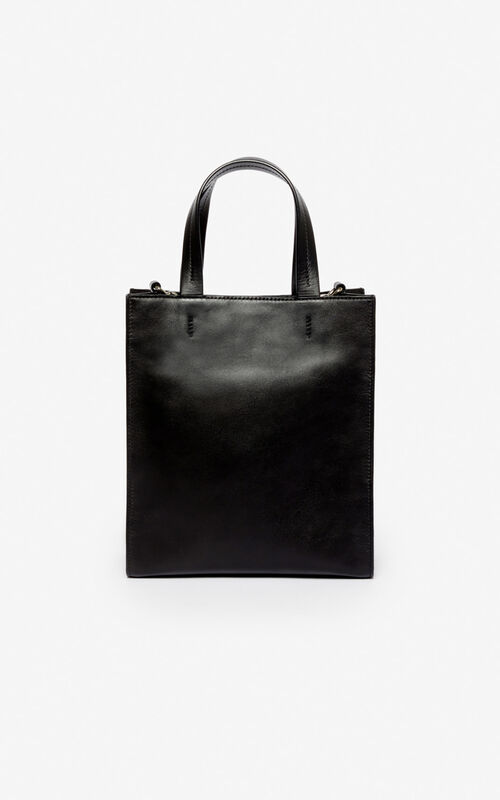 BLACK Kontrast tote bag for unisex KENZO