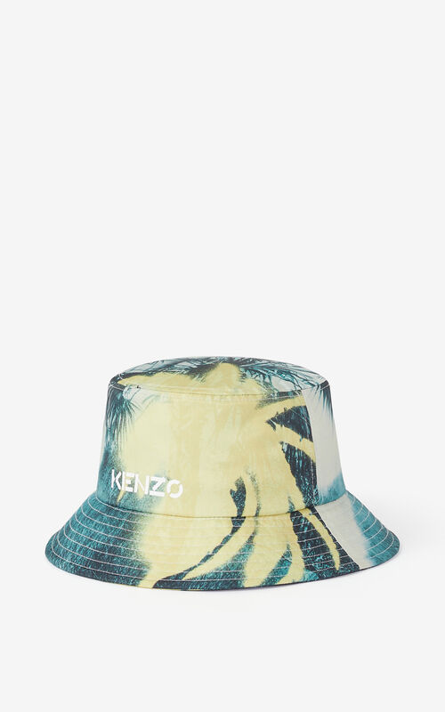 VANILLA 'Hawaiian Graffiti' 'High Summer Capsule' sun hat for unisex KENZO