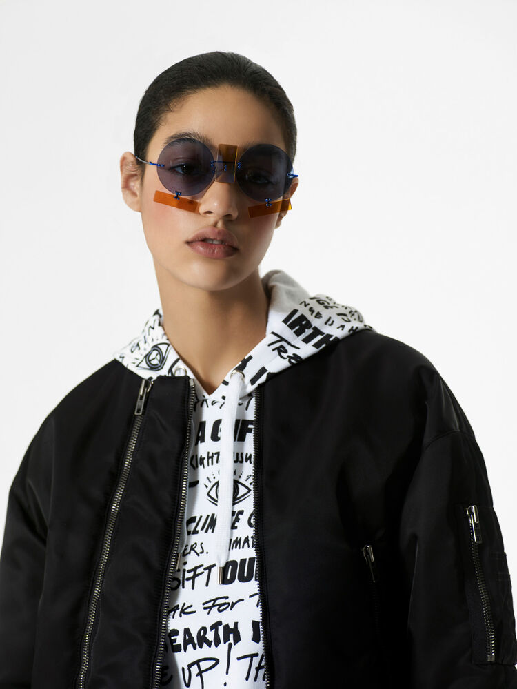 BLACK Elevated Military Bomber Jacket for women KENZO