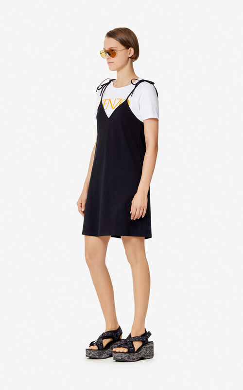 745ed56a ... BLACK 2-in-1 dress 'High Summer Capsule collection' for women KENZO