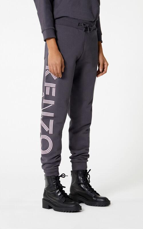 ANTHRACITE KENZO Logo jogging trousers for women