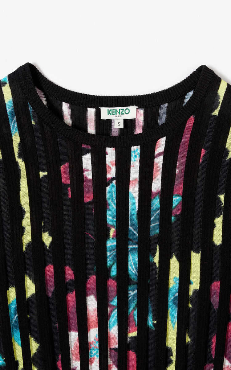 MUSTARD 'Indonesian Flower' pleated top for women KENZO
