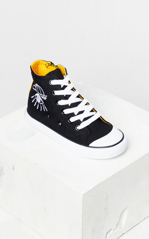 BLACK 'Cosmic' high-top sneakers for women KENZO