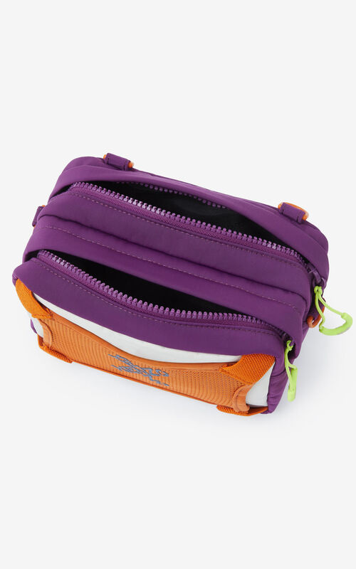 PURPLE KENZO Sport bag with strap for unisex