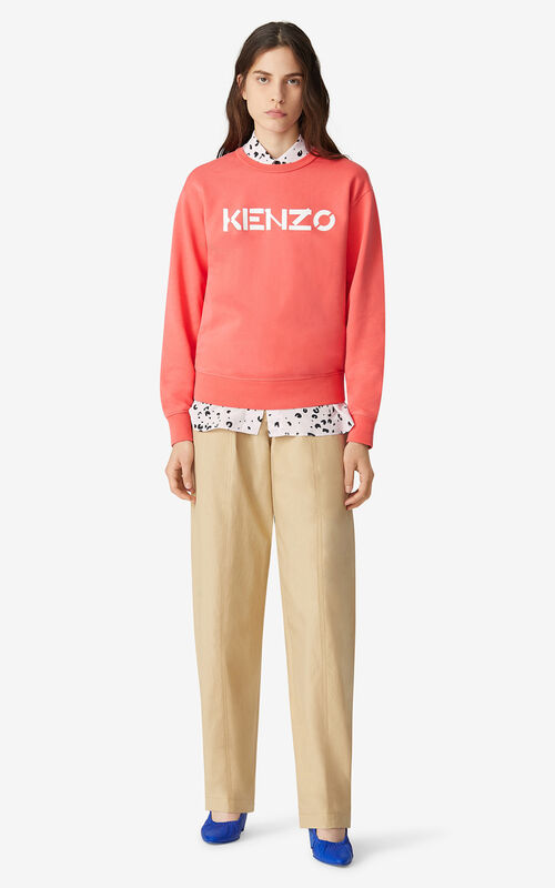 RED ORANGE KENZO Logo sweatshirt for men
