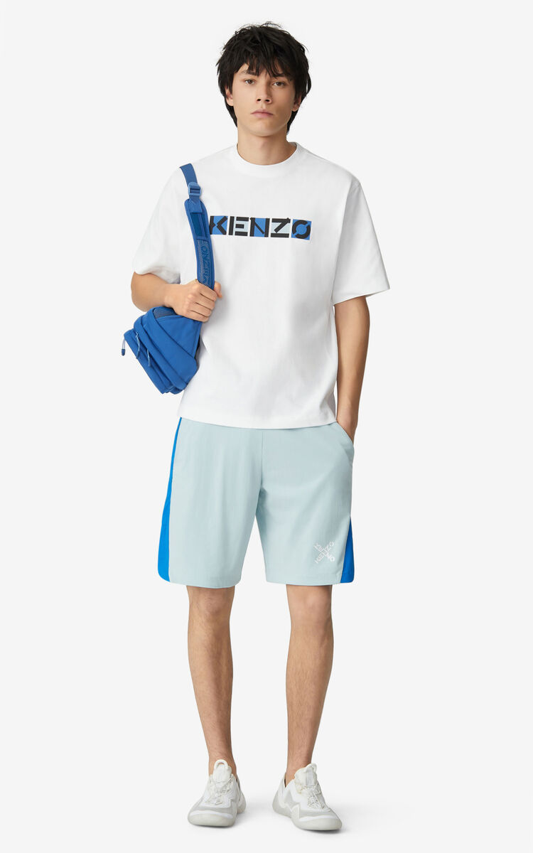 WHITE KENZO Sport loose T-shirt for men