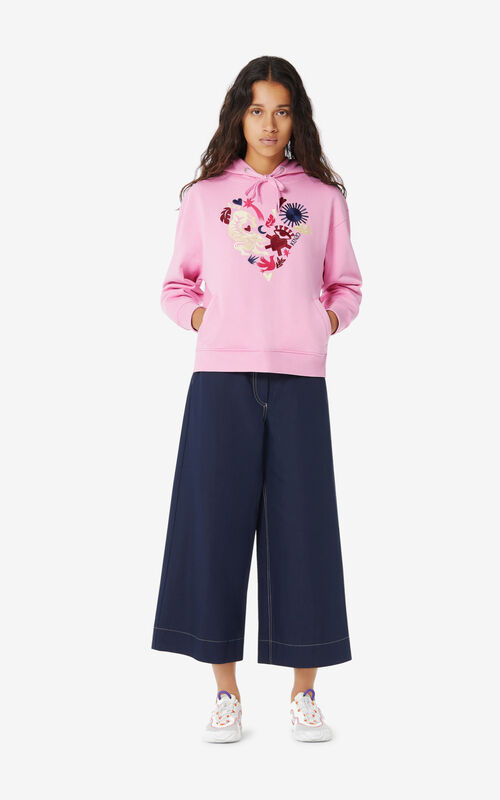 BEGONIA 'Lucky Star' hooded sweatshirt for women KENZO