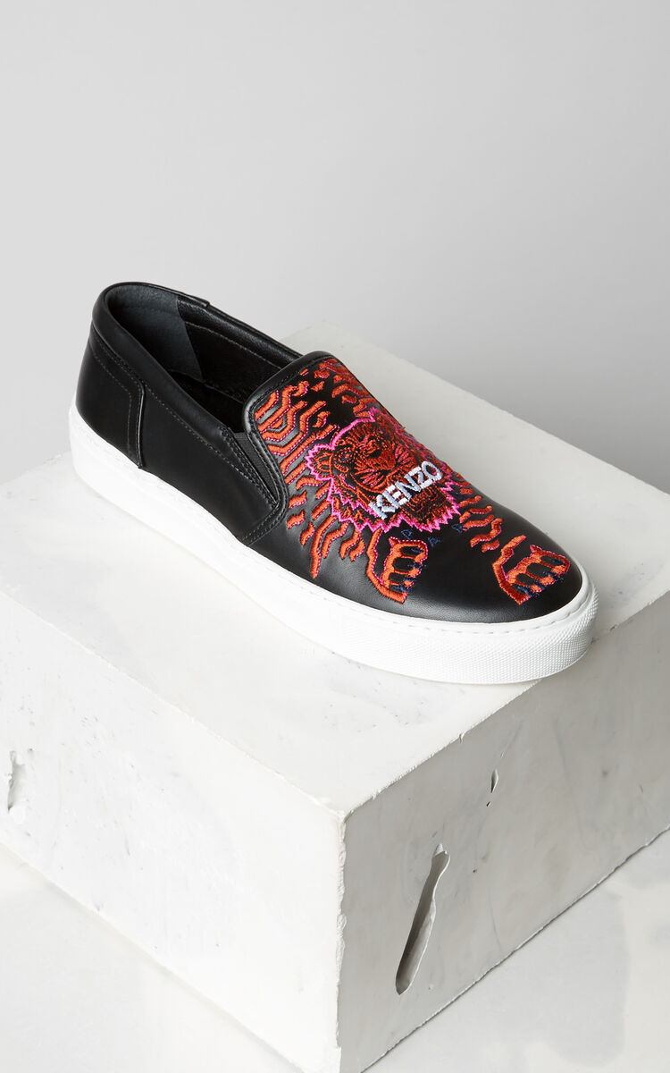 BLACK K-Skate' sneaker x 'Géo Tiger' for unisex KENZO