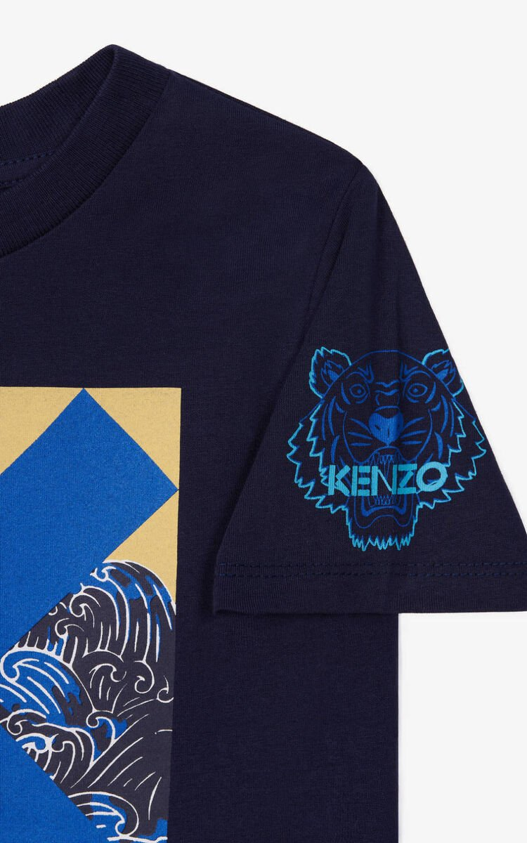 NAVY BLUE K Logo t-shirt for women KENZO