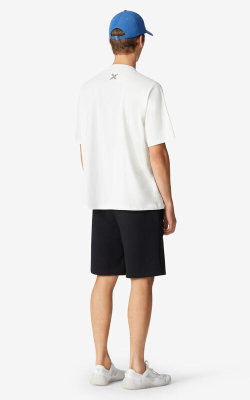 WHITE KENZO Sport 'Blocked K' oversize T-shirt for men