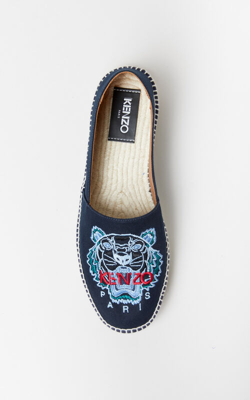 NAVY BLUE Tiger Espadrilles for men KENZO