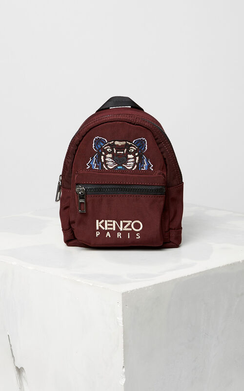 Mini Tiger Canvas Backpack, BORDEAUX, KENZO