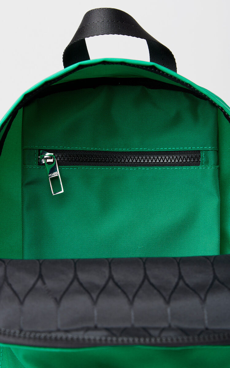GRASS GREEN Medium Tiger Canvas backpack for unisex KENZO