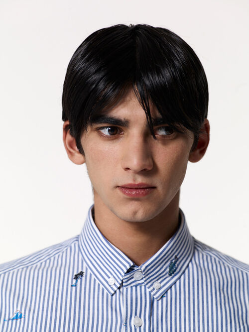 PERRIWINKLE 'Tropical Ice' Stripped shirt for men KENZO