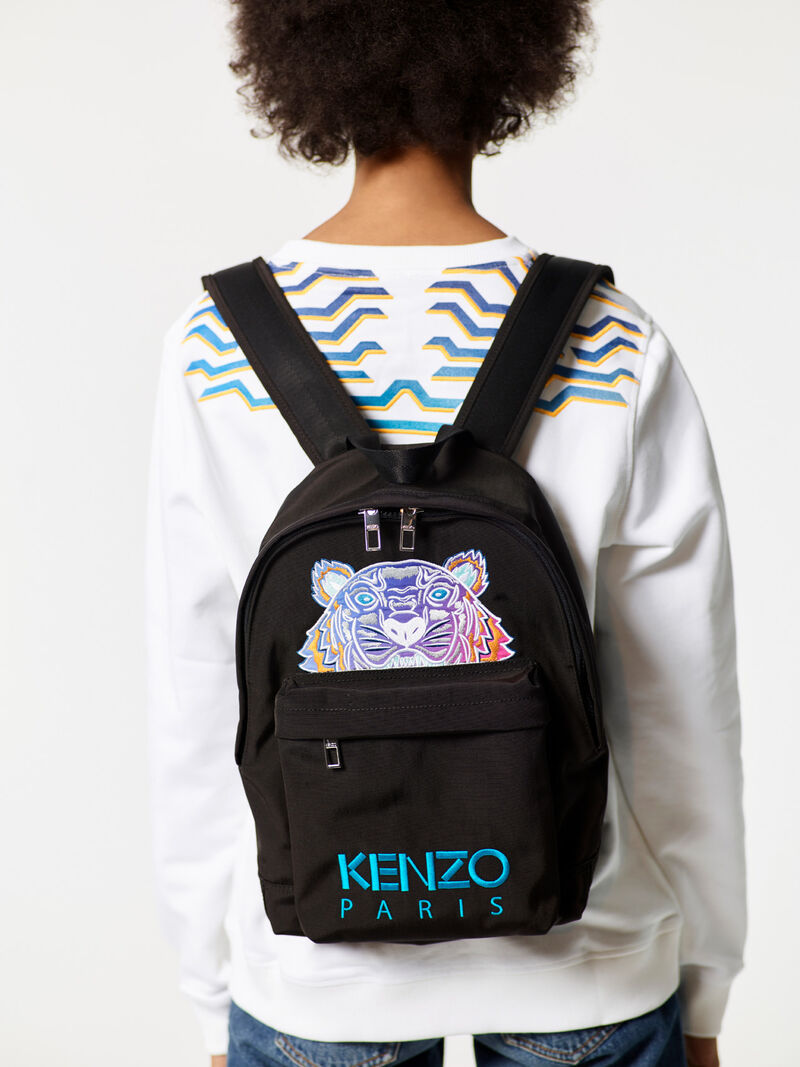 Medium  Rainbow  Backpack, BLACK, KENZO