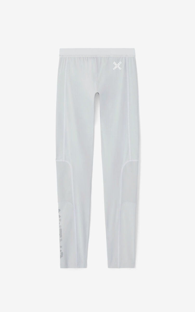 PALE GREY KENZO Sport leggings for men