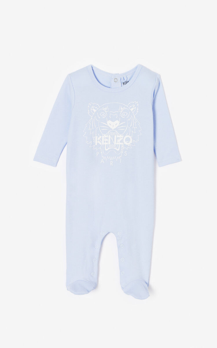 WHITE Set of two 'Tiger & Friends' sleepsuits for unisex KENZO