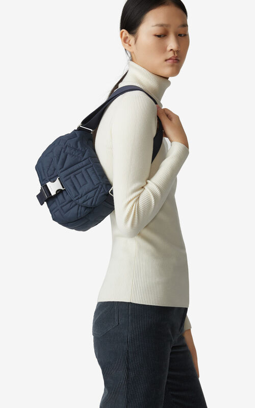 NAVY BLUE Arctik small messenger bag for women KENZO