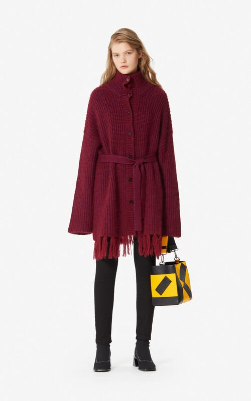 BORDEAUX Long cardigan for women KENZO