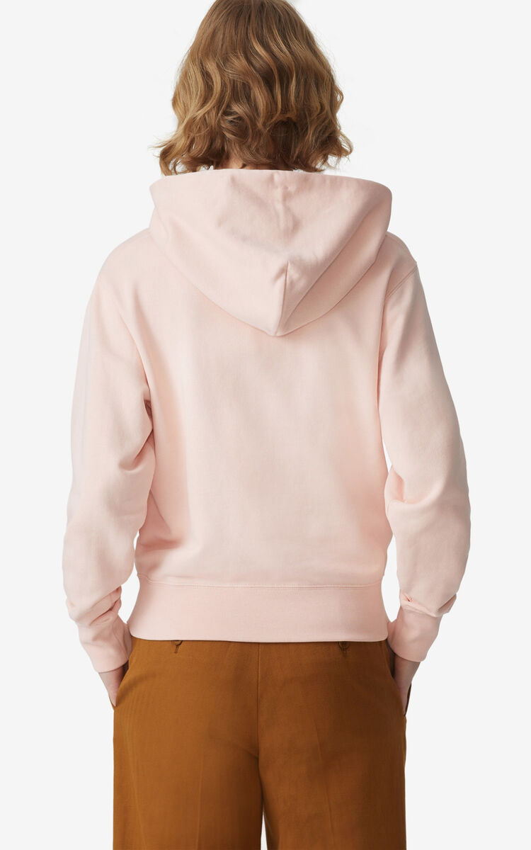FADED PINK Tiger hooded sweatshirt for women KENZO